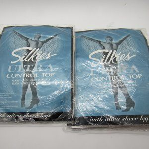 Silkies Ultra Control Top Pantyhose Off White S